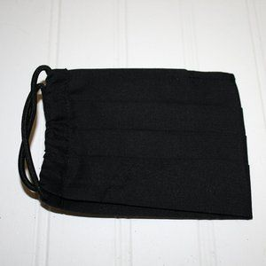 Handmade Accessories - HANDMADE Black Cotton Fabric Face Mask has Pocket